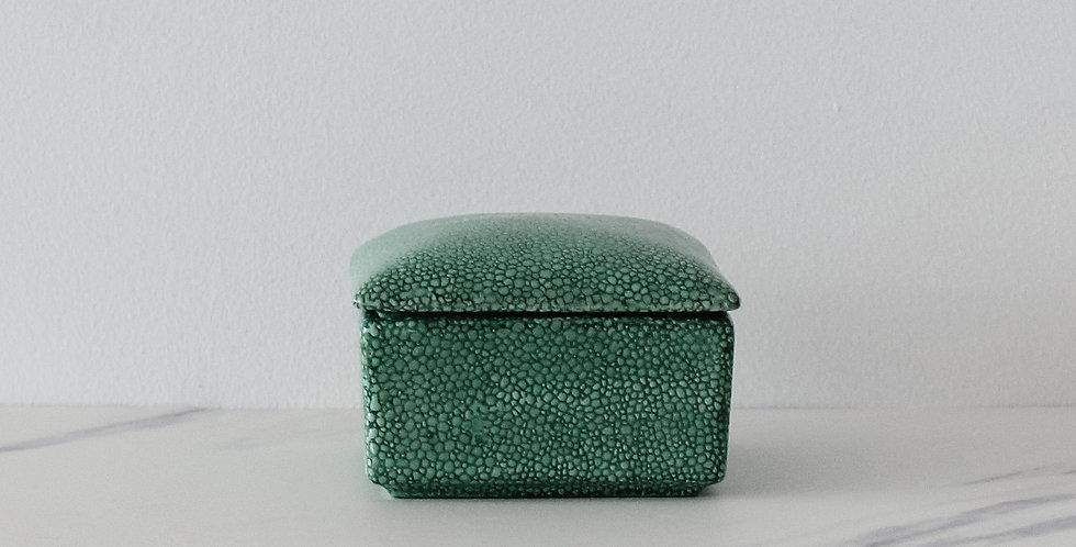 Ceramic Shagreen Finish Lidded Box