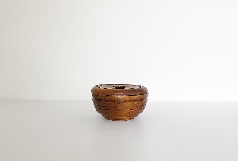 1950s/60s Wooden Shaving Soap Bowl