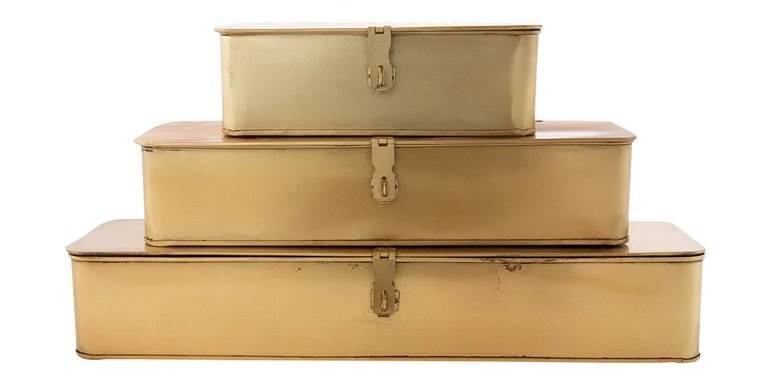 Rectangle Low Brass Boxes