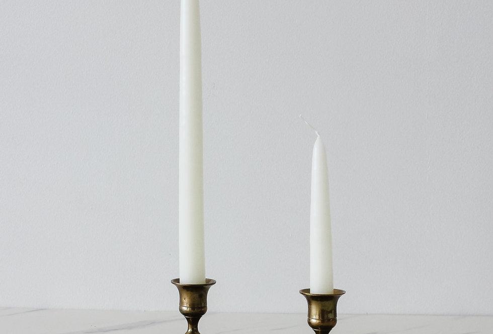 Vintage Brass Candlestick Set 13