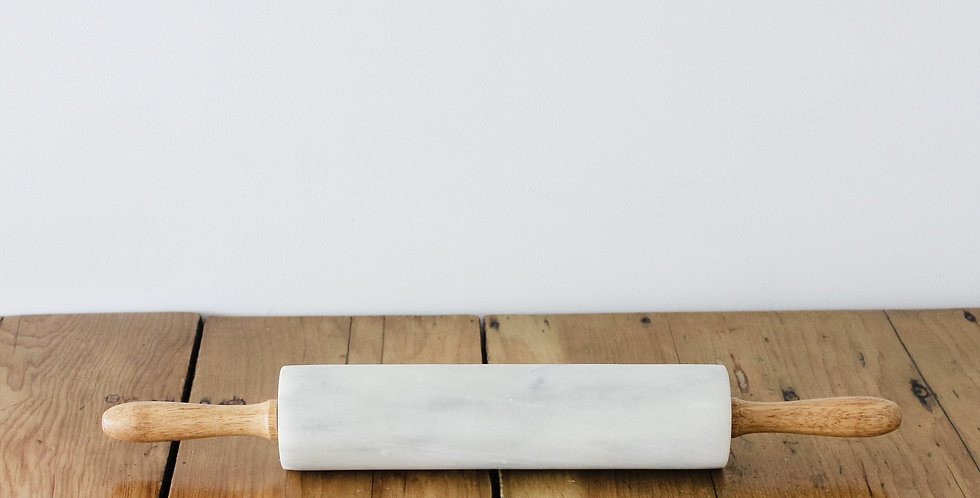 Found Marble Rolling Pin