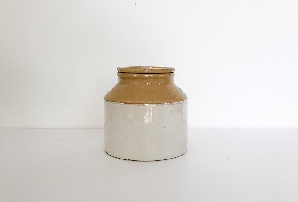 Vintage Lidded Mustard Jar