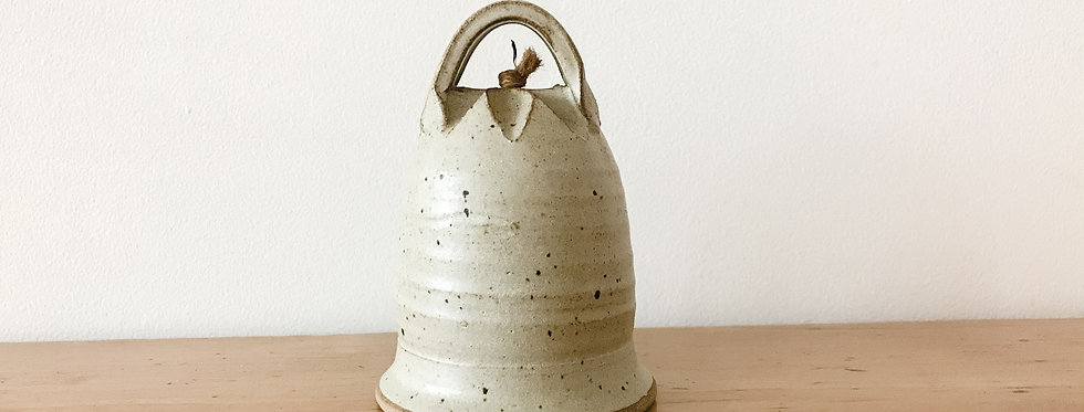 Vintage Handmade Canadian Pottery Bell