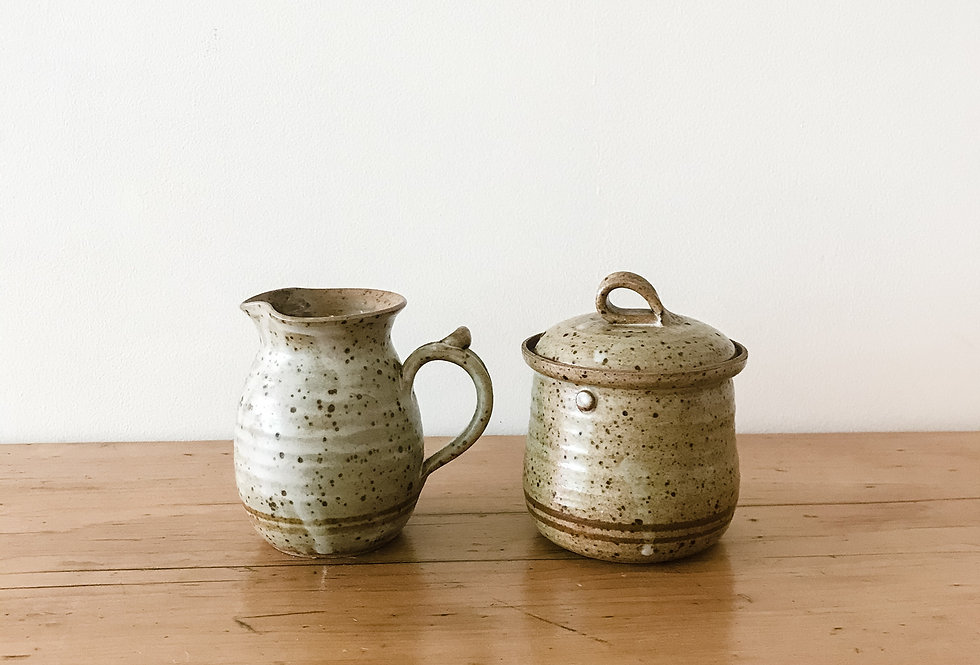Mid-Century Canadian Sugar and Creamer Pottery Set