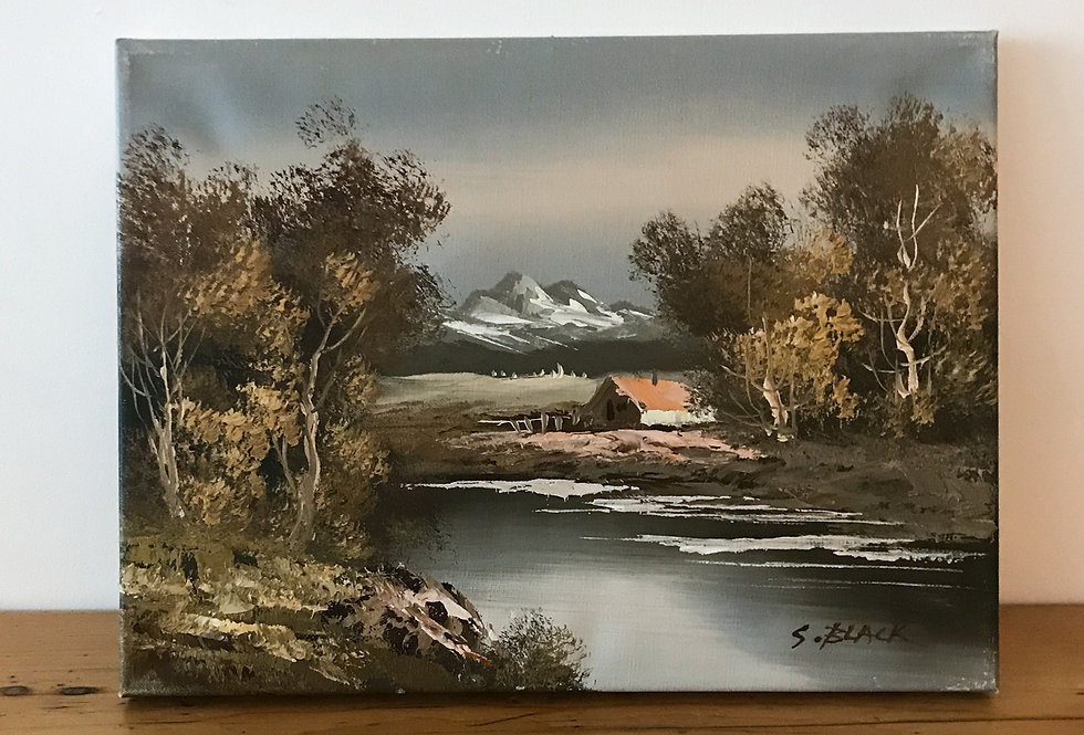 Vintage Painting on Canvas 2 of 2