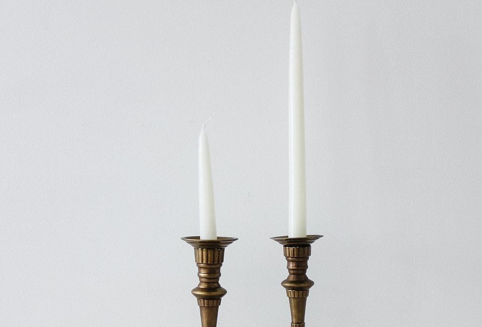 Vintage Brass Candlestick Set 10