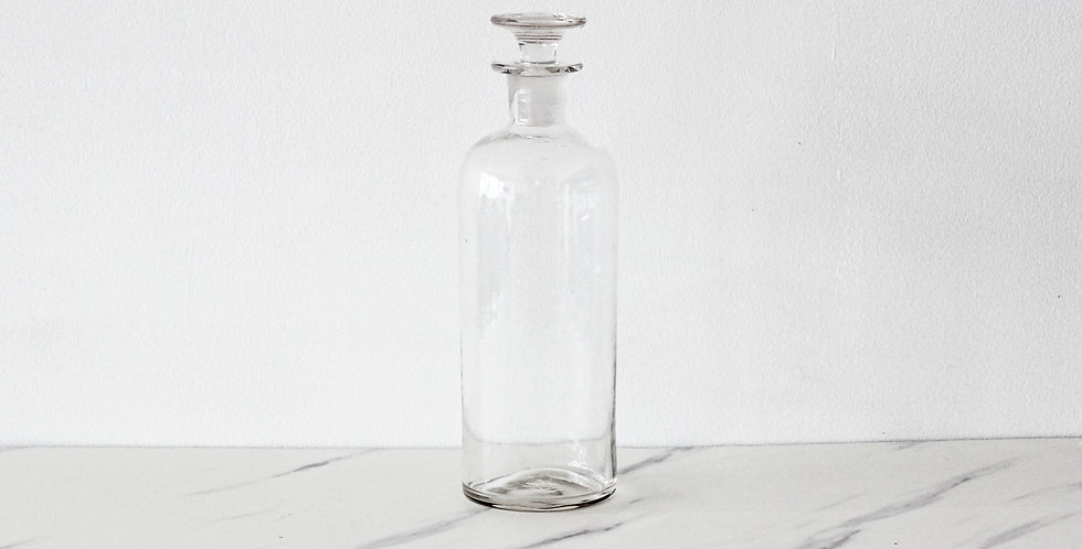 Small Vintage Apothecary Jar with Lid