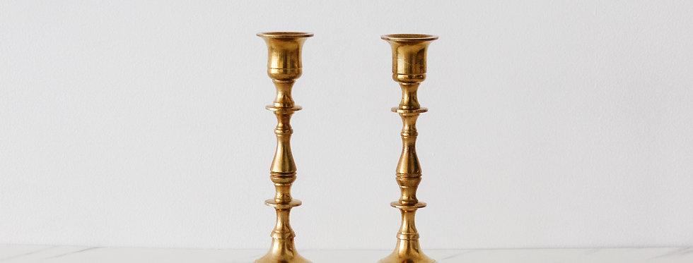 Vintage Brass Candlestick Set 06