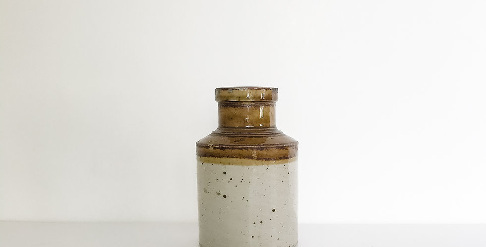 Unusual Vintage Mustard Crock from Bristol, England