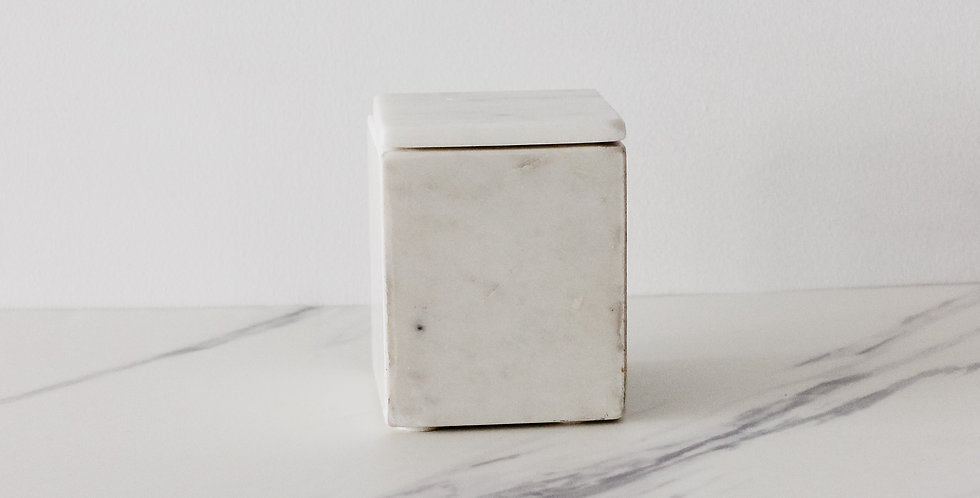 Small Stone Box with Lid