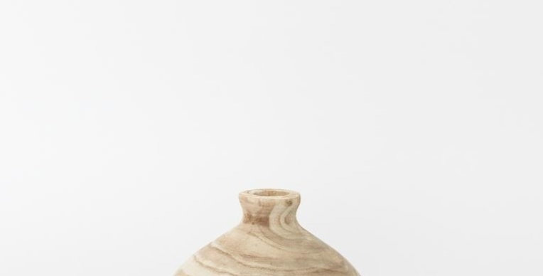 Marbled Light Wood Vases
