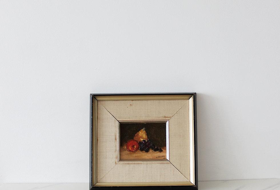 Vintage Fruit Still Life Painting