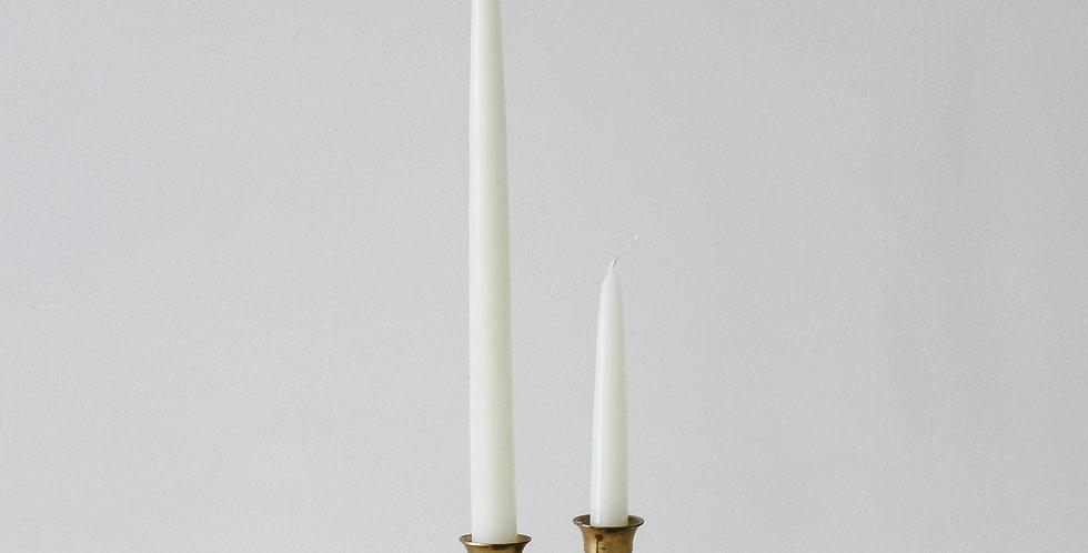 Vintage Brass Candlestick Set 12