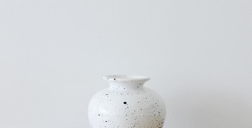 Midcentury Modern Paint Splatter Vase