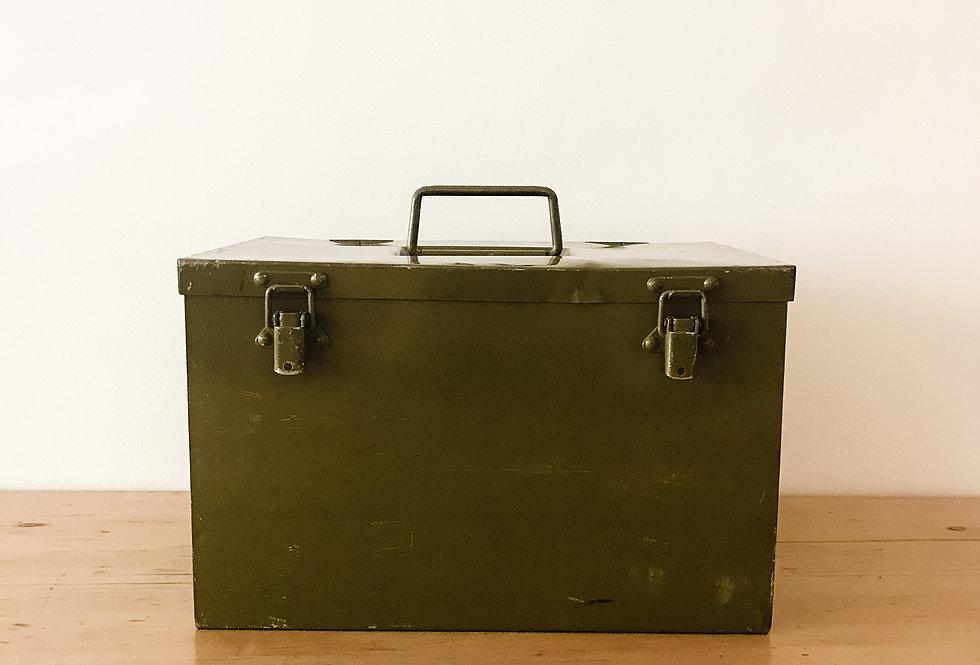 Vintage Olive Green Utility Box