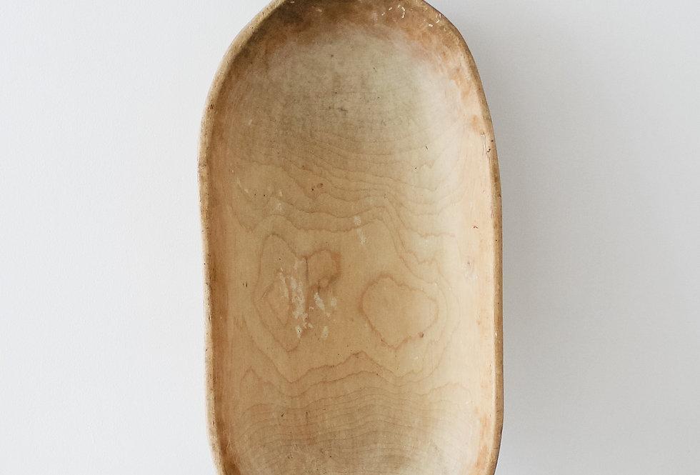 Blond Oblong Wooden Bowl