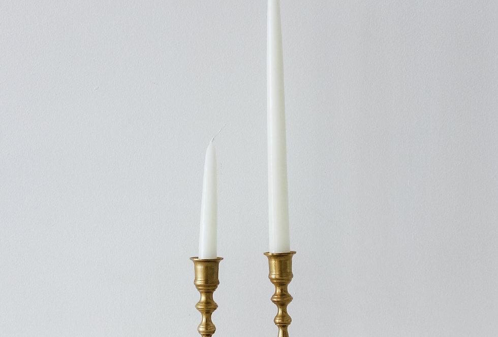 Vintage Brass Candlestick Set 11