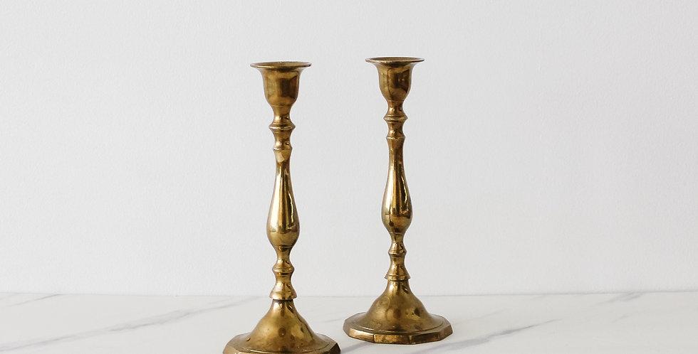 Vintage Brass Candlestick Set 04