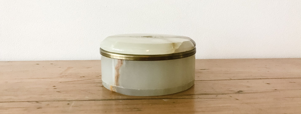 Vintage Lidded Onyx Trinket Box