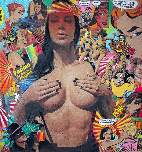 Spanish pop art print