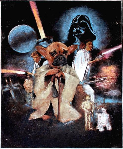 Star Wars - Yoda Frenchie signed print