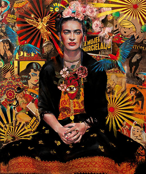 "SOLD Frida Kahlo ""Fiesta de Frida"" original"