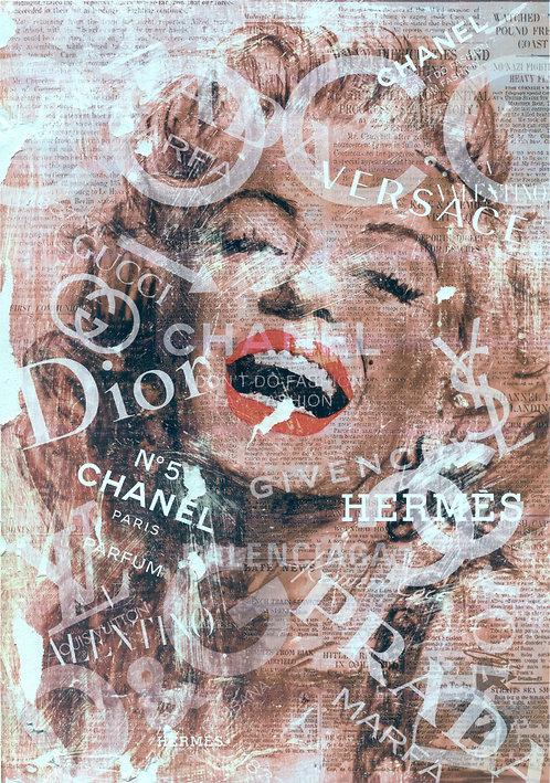 Marilyn Monroe retro fashion print