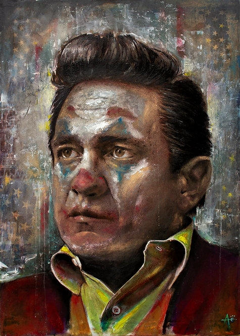 Johnny Cash Joker original painting