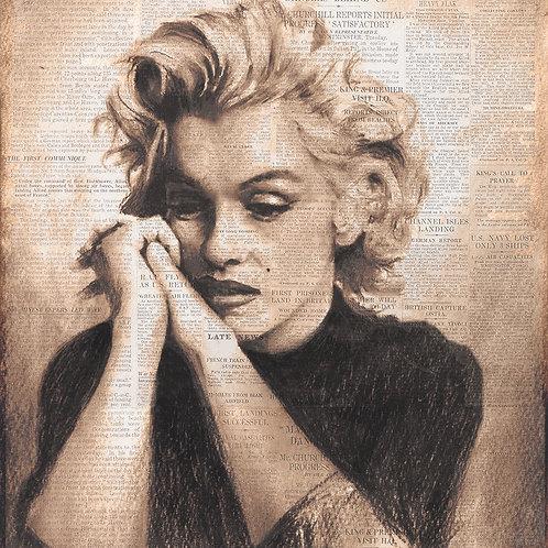Marilyn Monroe news print