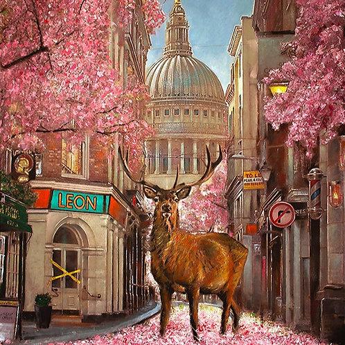 St Pauls lockdown Stag original painting