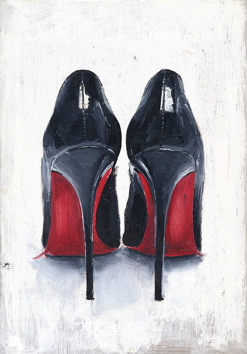 Louboutins original oil painting (SOLD)