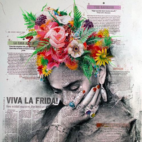 Viva La Frida original art (SOLD)