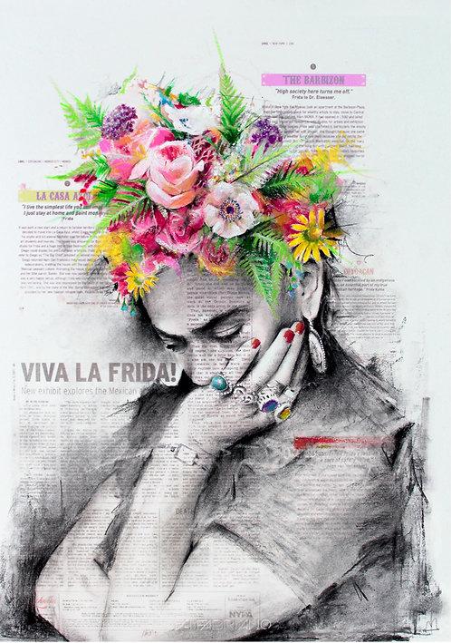 Viva La Frida Kahlo fine art print