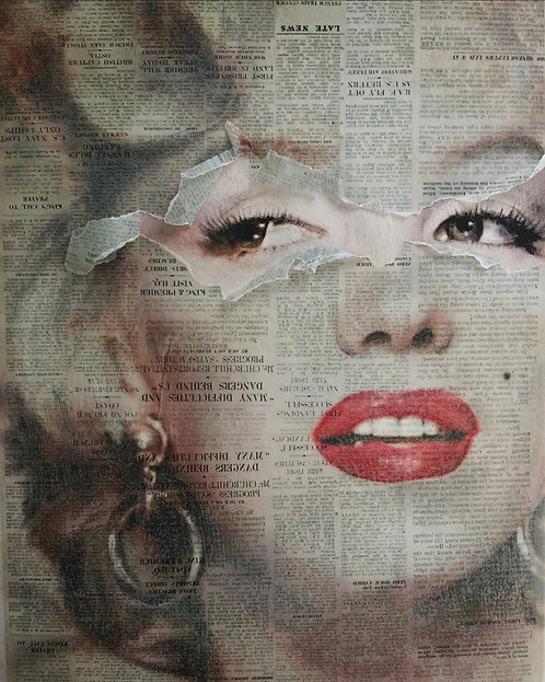 Marilyn Monroe newsprint original art
