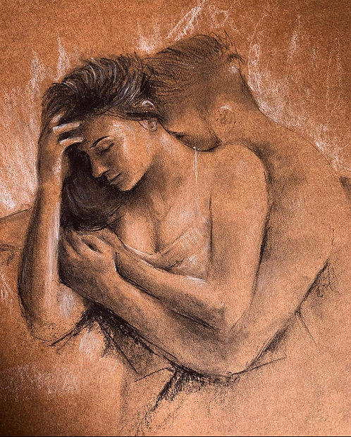 Lovers original sketch (SOLD)