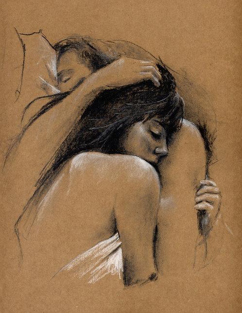 SOLD Lovers original sketch