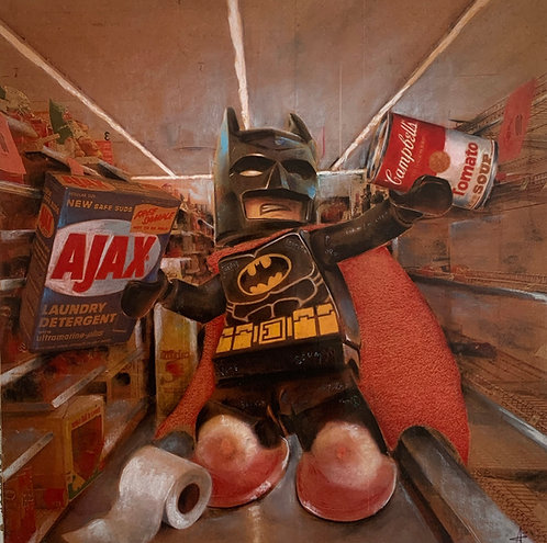 Batman stockpile original painting