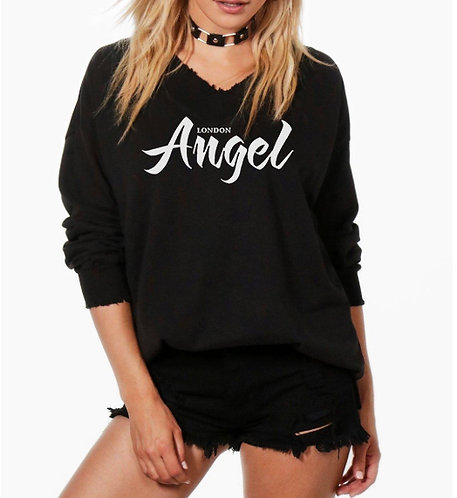 Ladies Oversized baggy black boyfriend sweater