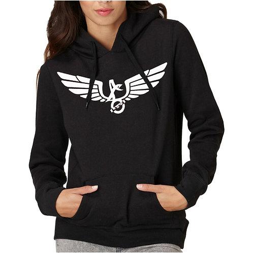 Angel wing hooded sweatshirt