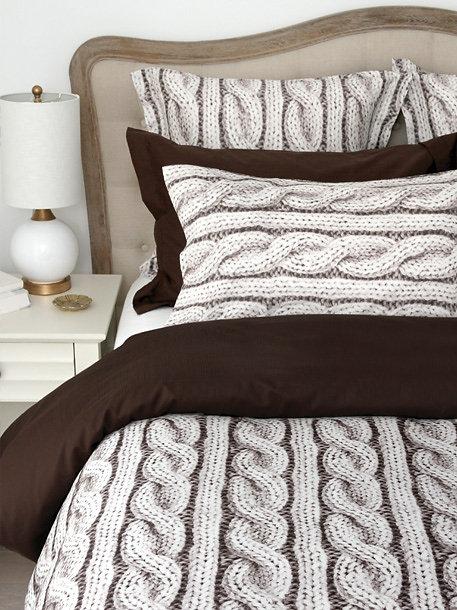 220tc 100 Cotton Cable Knit Pattern Sa Finish Pillow Shams