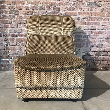 Fauteuil chauffeuse velours - S987