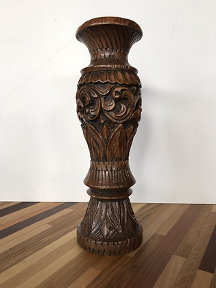 Bougeoir bois sculpté - S056
