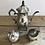 Thumbnail: Cafetière/pot à lait/sucrier en métal argenté  - S098