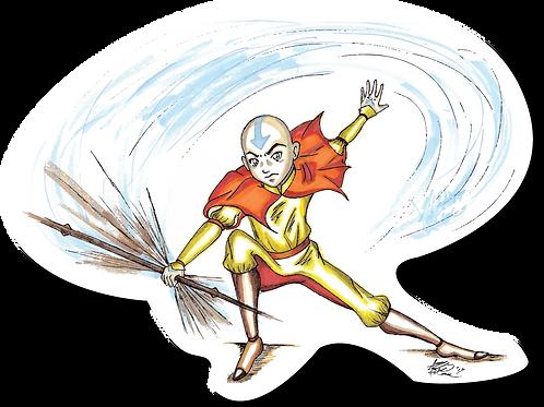 Avatar Aang Sticker
