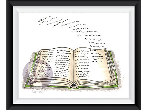 Books are Alive Doodle Art Print