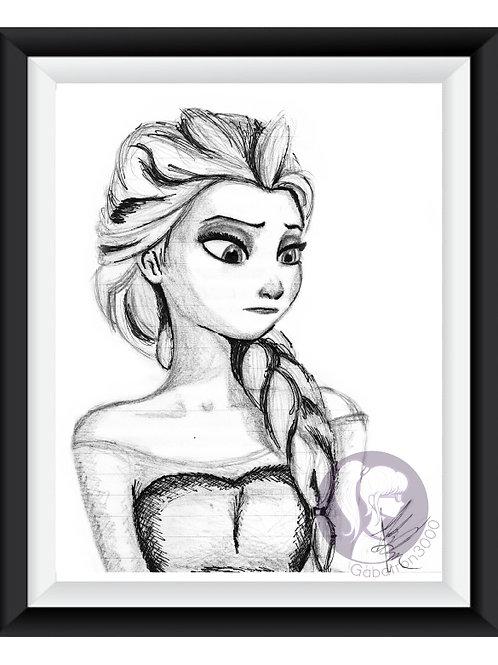 Elsa Sketch Art Print