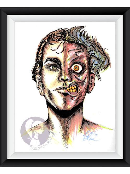 TwoFace Art Print