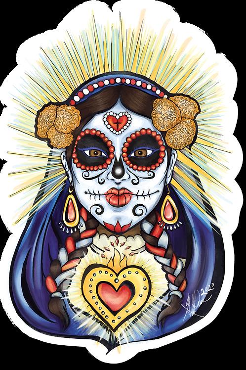 Dia de Los Muertos Catrina Sticker