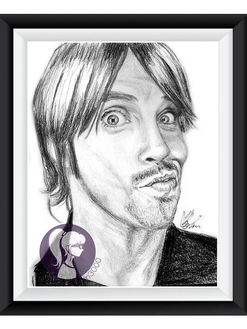 RHCP Anthony Kiedis Art Print