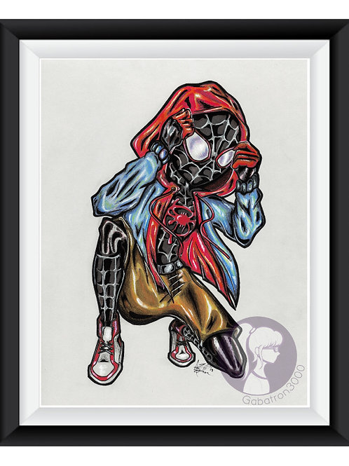 Spiderman Miles Morales Art Print